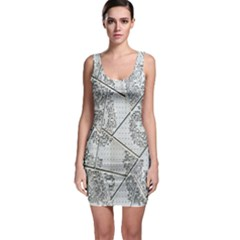 The Abstract Design On The Xuzhou Art Museum Sleeveless Bodycon Dress