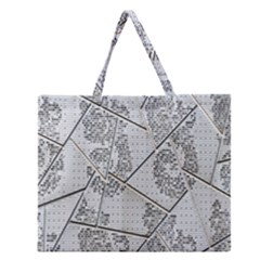 The Abstract Design On The Xuzhou Art Museum Zipper Large Tote Bag by Nexatart