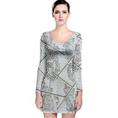 The Abstract Design On The Xuzhou Art Museum Long Sleeve Velvet Bodycon Dress