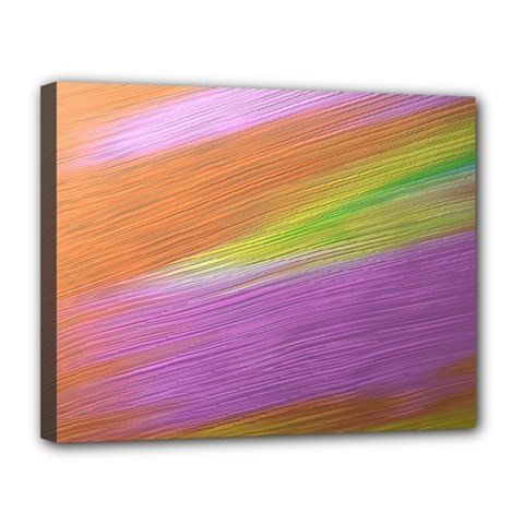 Metallic Brush Strokes Paint Abstract Texture Canvas 14  X 11  by Nexatart
