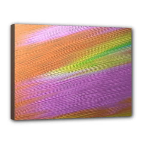 Metallic Brush Strokes Paint Abstract Texture Canvas 16  X 12  by Nexatart
