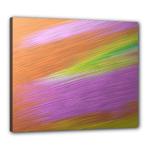 Metallic Brush Strokes Paint Abstract Texture Canvas 24  X 20  by Nexatart