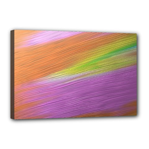 Metallic Brush Strokes Paint Abstract Texture Canvas 18  X 12  by Nexatart