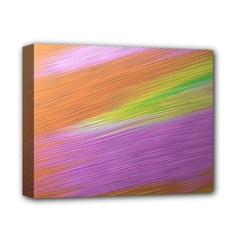 Metallic Brush Strokes Paint Abstract Texture Deluxe Canvas 14  X 11  by Nexatart
