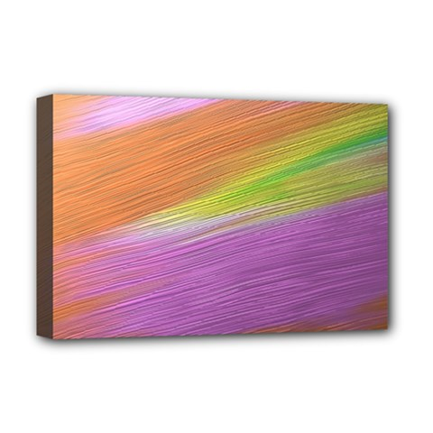 Metallic Brush Strokes Paint Abstract Texture Deluxe Canvas 18  X 12   by Nexatart