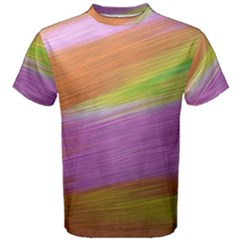 Metallic Brush Strokes Paint Abstract Texture Men s Cotton Tee by Nexatart