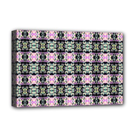 Colorful Pixelation Repeat Pattern Deluxe Canvas 18  X 12   by Nexatart