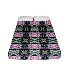Colorful Pixelation Repeat Pattern Fitted Sheet (full/ Double Size) by Nexatart