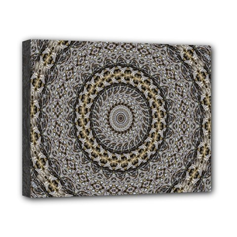 Celestial Pinwheel Of Pattern Texture And Abstract Shapes N Brown Canvas 10  X 8  by Nexatart