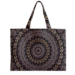 Celestial Pinwheel Of Pattern Texture And Abstract Shapes N Brown Zipper Mini Tote Bag by Nexatart