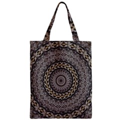 Celestial Pinwheel Of Pattern Texture And Abstract Shapes N Brown Zipper Classic Tote Bag by Nexatart