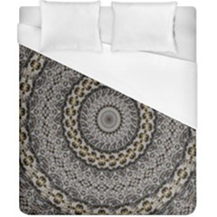 Celestial Pinwheel Of Pattern Texture And Abstract Shapes N Brown Duvet Cover (california King Size) by Nexatart