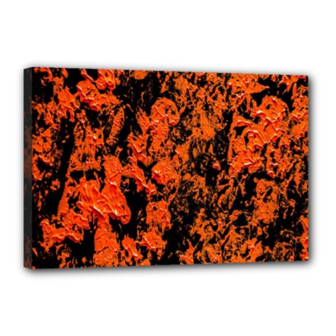 Abstract Orange Background Canvas 18  X 12