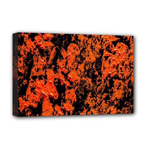 Abstract Orange Background Deluxe Canvas 18  X 12   by Nexatart