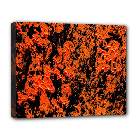 Abstract Orange Background Deluxe Canvas 20  X 16   by Nexatart