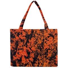 Abstract Orange Background Mini Tote Bag by Nexatart