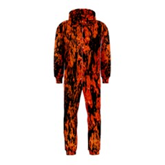 Abstract Orange Background Hooded Jumpsuit (kids) by Nexatart