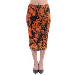 Abstract Orange Background Midi Pencil Skirt