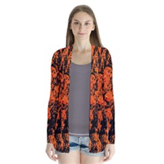 Abstract Orange Background Cardigans