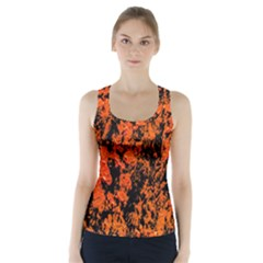 Abstract Orange Background Racer Back Sports Top