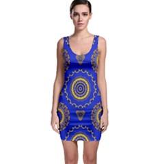 Abstract Mandala Seamless Pattern Sleeveless Bodycon Dress