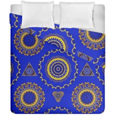 Abstract Mandala Seamless Pattern Duvet Cover Double Side (california King Size) by Nexatart