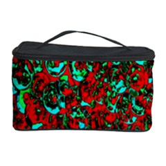 Red Turquoise Abstract Background Cosmetic Storage Case