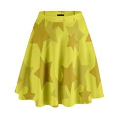 Yellow Star High Waist Skirt by Mariart