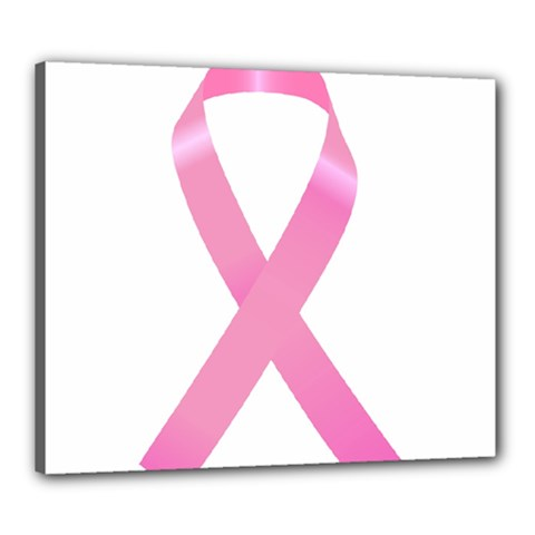 Breast Cancer Ribbon Pink Canvas 24  X 20  by Mariart