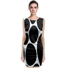 Dalmatian Black Spot Stone Classic Sleeveless Midi Dress