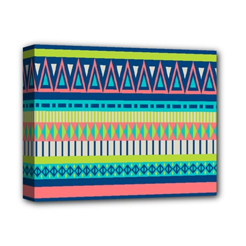 Aztec Triangle Chevron Wave Plaid Circle Color Rainbow Deluxe Canvas 14  X 11  by Mariart