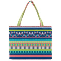 Aztec Triangle Chevron Wave Plaid Circle Color Rainbow Mini Tote Bag by Mariart