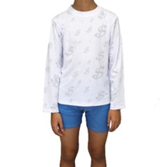 Dollar Sign Transparent Kids  Long Sleeve Swimwear by Mariart