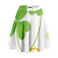 Flower Floralleaf Green Reboon High Waist Skirt by Mariart
