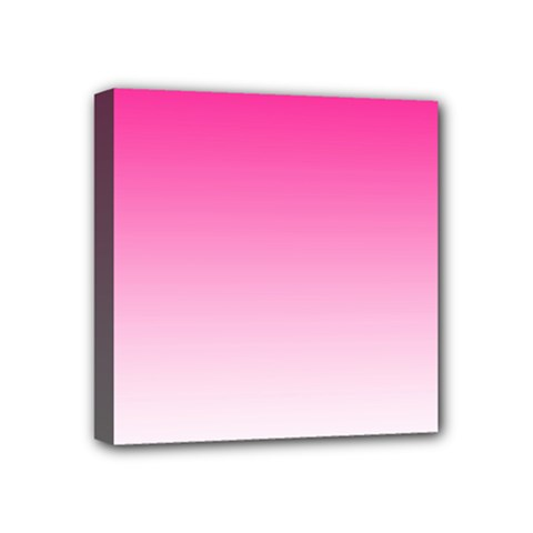 Gradients Pink White Mini Canvas 4  X 4  by Mariart