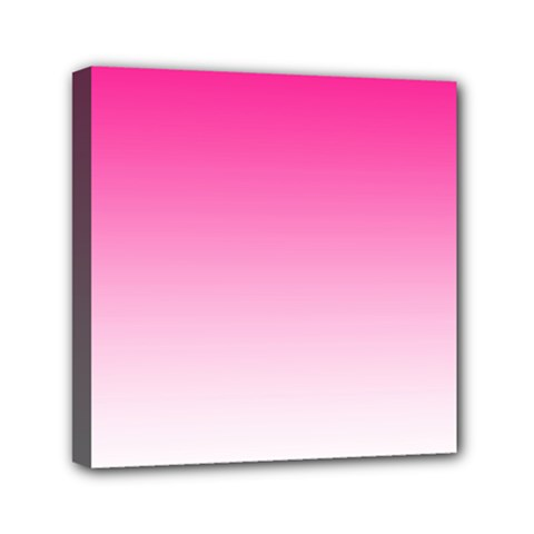 Gradients Pink White Mini Canvas 6  X 6  by Mariart