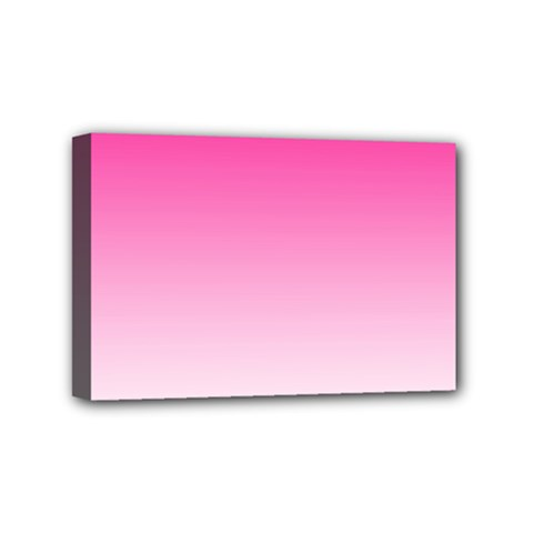 Gradients Pink White Mini Canvas 6  X 4  by Mariart