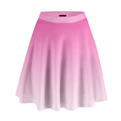 Gradients Pink White High Waist Skirt by Mariart
