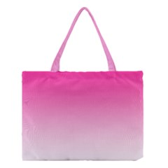 Gradients Pink White Medium Tote Bag by Mariart