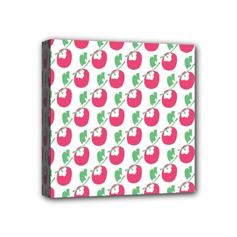 Fruit Pink Green Mangosteen Mini Canvas 4  X 4  by Mariart