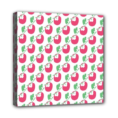 Fruit Pink Green Mangosteen Mini Canvas 8  X 8  by Mariart