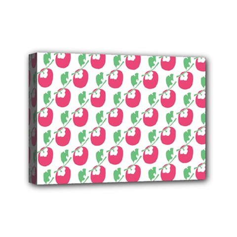 Fruit Pink Green Mangosteen Mini Canvas 7  X 5  by Mariart