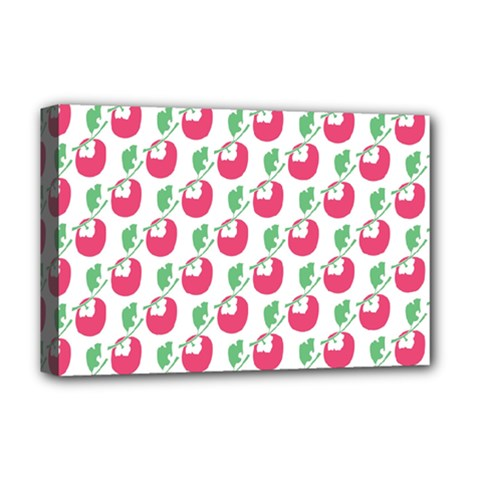 Fruit Pink Green Mangosteen Deluxe Canvas 18  X 12   by Mariart