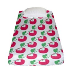 Fruit Pink Green Mangosteen Fitted Sheet (single Size) by Mariart