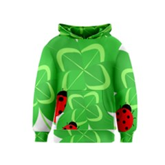 Insect Flower Floral Animals Green Red Line Kids  Pullover Hoodie by Mariart