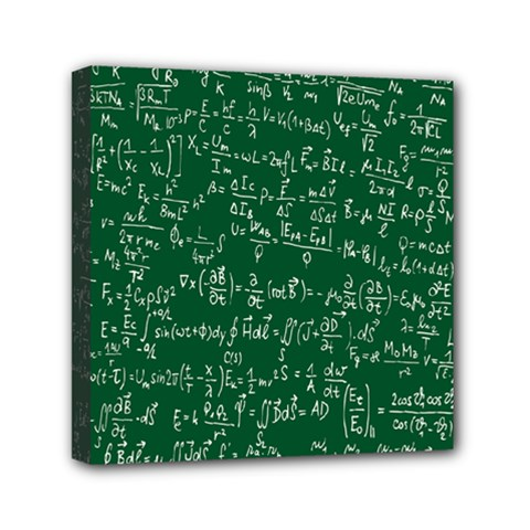 Formula Number Green Board Mini Canvas 6  X 6  by Mariart
