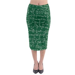 Formula Number Green Board Midi Pencil Skirt by Mariart