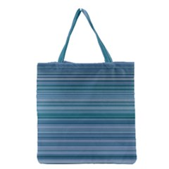 Horizontal Line Blue Grocery Tote Bag by Mariart