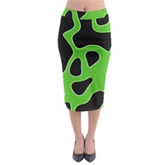 Abstract Shapes A Completely Seamless Tile Able Background Midi Pencil Skirt by Nexatart