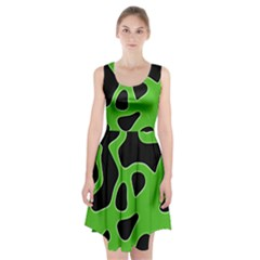 Abstract Shapes A Completely Seamless Tile Able Background Racerback Midi Dress